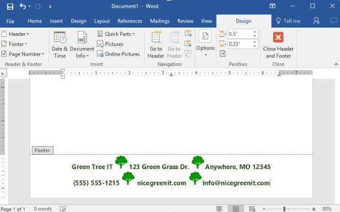 tip of the week using word to create company letterhead data net